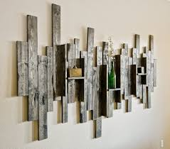 Rustic Display Shelf Decorative Wall Art