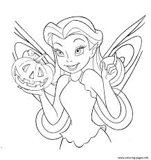 Print Disney Fairy Halloween Coloring Pages