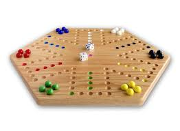 Hand Painted Wooden Aggravation Game Board Double Sided