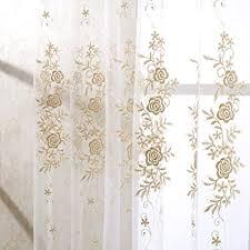 de gjbhd europa gold luxus schiere vorhänge beige