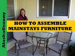 Outsunny Patio Furniture Assembly by How To Assemble Patio Furniture Youtube