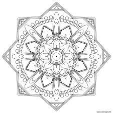 Coloriage Mandala Adulte 2017 Rose Dessin