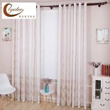 byetee transparent weiß plaid baumwolle und leinen vorhang wohnzimmer vorhang balkon fenster gardinen nach