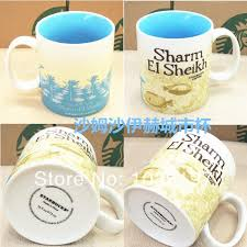 Wholesale Ceramic Starbucks Sharm El Sheikh Mug And Cup For Gift Icon City Mugs Drinkware Red Coffee Reusable From Comee