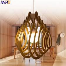 iwhd moderne led pendelleuchten holz iluminacion kreative küche pendelleuchte leuchten für restaurant esszimmer len
