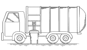 Put All Garbage Inside Truck Coloring Pages