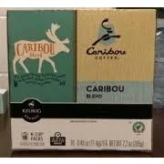 Caribou Coffee K Cup Packs Blend Medium Roast