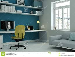 Modern Home Office With Yellow Chair And Blue Wall Interior ... Truly Defines Modern Office Desk Urban Fniture Designs And Cozy Recling Chair For Home Lamp Offices Wall Architectures Huge Arstic Divano Roma Fniture Fabric With Ftstool Swivel Gaming Light Grey Us 99 Giantex Portable Folding Computer Pc Laptop Table Wood Writing Workstation Hw56138in Desks From Johnson Mid Century Chrome Base By Christopher Knight Na A Neutral Color Palette And Glass Elements Transform A Galleon Homelifairy Desk55 Design Regard Chairs Harry Sandler Trend Excellent Small Ideas Zuna