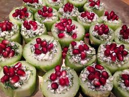 cucumber canapes cucumber cups canapés yes