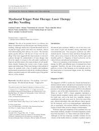 myofascial trigger point therapy laser therapy and dry needling