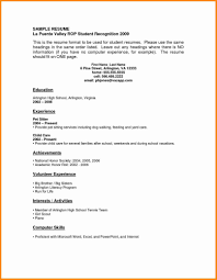 Sample Resume For High School Graduate With No Experience Template Fantastic Graduates