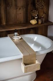articles with wood bathtub caddy with reading rack tag awesome