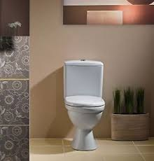 details zu wc toilette stand tiefspüler set bodenstehend spülkasten keramik sitz cersanit