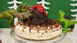 rezept dino torte zum kindergeburtstag geburtstagstorte für kinder lava torte