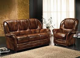 canapé cuir et bois rustique canape 3 places et 2 fauteuils en cuir bleu vert marron gris taupe