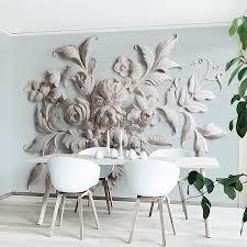 hohe qualität moderne 3d tapete europäischen stil stereo relief blatt foto wandbild tapete esszimmer hotel schlafzimmer design fresko