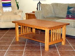 mission style tile top oak coffee table mission style coffee table
