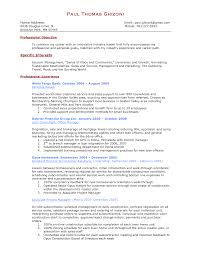 Personal Banker Resume Professional Objective Examples