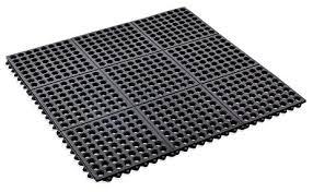 kempf rubber anti fatigue drainage mat interlocking