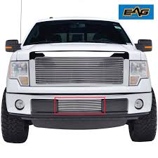 100 Aluminum Ford Truck 0914 F150 Bumper Grille Lower Insert Polished Pickup