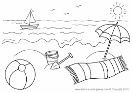 Nice Summer Coloring Sheets Pages Design
