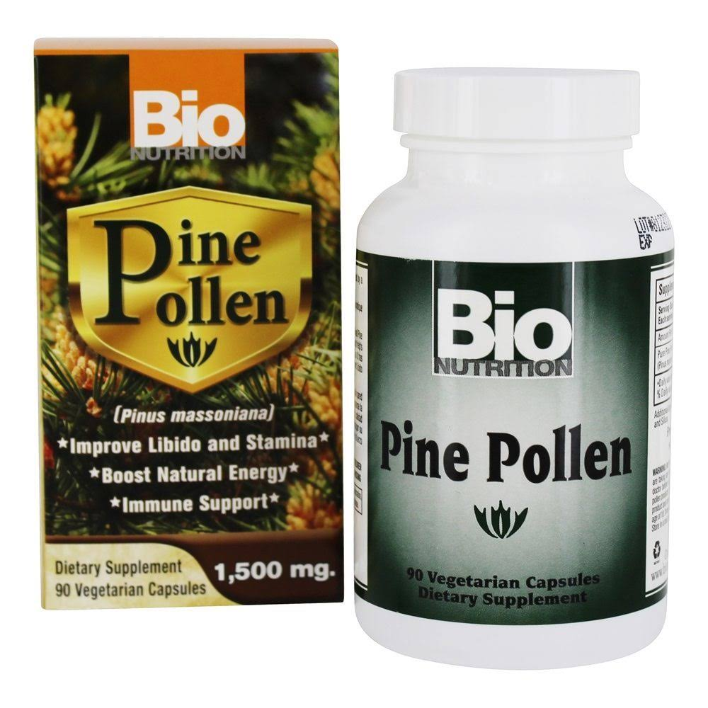 Bio Nutrition Pine Pollen Immune Support, 1500 mg, Vegetarian Capsules - 90 count