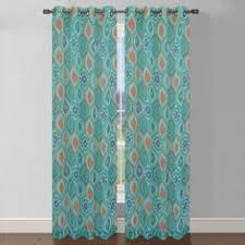 Gray Sheer Curtains Bed Bath And Beyond by Dkny Modern Botanical Window Curtain Panel In Aqua