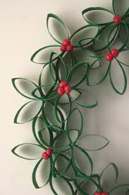 Toilet Paper Roll Wreath By Crescent And Old Lace Recycled Crafts Christmas