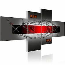 abstrakt rot grau wandbilder bilder vlies leinwand