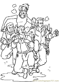 Ghost Busters Coloring Pages