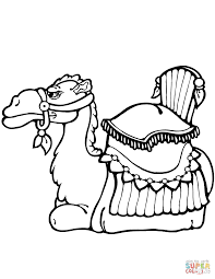 Click The Camel Laying Down Coloring Pages