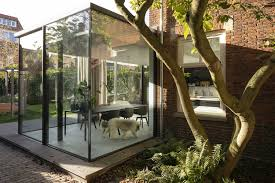 100 Glass Extention Extension Breathes Life Into 1920s Brick House In The Hague