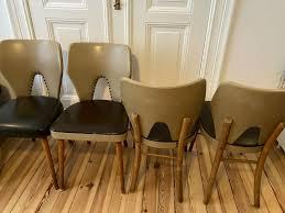vintage retro 50 60 er stühle esszimmer küche 4 stück