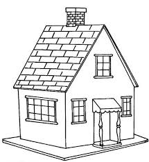 Little House In Houses Coloring Page