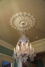 Two Piece Ceiling Medallions Cheap by Love This Put A Medallion In Our Old House Cheap And Easy Way To