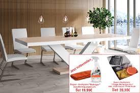 design esstisch tisch he 999 cappuccino weiß hochglanz ausziehbar 160 bis 256 cm