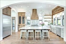 Light Grey Kitchen Elegant Cabinets Tile Backsplash Dark Island Co