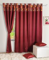 Faux Silk Eyelet Curtains by Home Decor Faux Silk Window Drape Panel Bedroom Blackout Eyelet