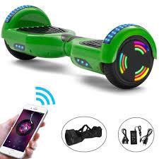 e rides hoverboard 6 5 zoll elektro scooter bluetooth led elektroroller leistungsstarker selbst balance roller neues modell grün