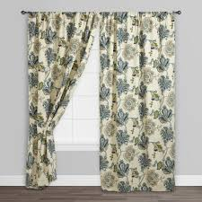 European Cafe Window Art Curtains by Floral Tatiana Sleevetop Curtains Set Of 2 World Market