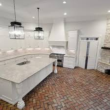white brick kitchen fireplace design ideas