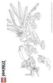 Ninjago Dragon Coloring Pages Of Lego