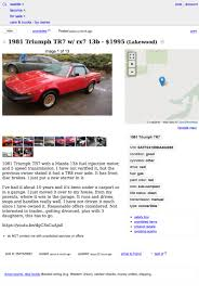 For $1,995, This 1981 Triumph TR7 Convertible Could Be Your Lucky Number Lexus Of Bellevue New Preowned Vehicles In Seattle Strictly Tr Trl Strictly_trl Twitter Craigslist Crapshoot Hooniverse Is This Rare Skoda Worth 3000 How I Clean My Rc Cars Youtube Victoria Tx Used And Trucks For Sale By Owner For 1995 1981 Triumph Tr7 Convertible Could Be Your Lucky Number Banks Boats Yachtworld And Elegant Gilchrist Chevrolet Old Chevy Pickup Inspirational Pin Aaron Tokarski On 3100