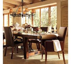 Pottery Barn Dining Room Decorating Ideas - Alliancemv.com Kitchen Breathtaking Brown Wood Ding Table Thick Planked Pottery Barn Living Room Ideas Surripuinet Room Dinette Space Tables Rooms Crate And Barrel Delightful Chair Slipcovers Alliancemvcom Lighting Planner For Minimalist Contemporary Houses Decorating Home Design Wonderfull Pottery Barn Table Ding Sets House Design