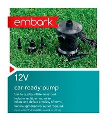 Embark Queen Air Bed by Embark 120v Ac Electric Pump Airbed Inflatable Plug In Ebay