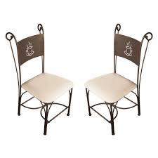 beau chaise haute fer forgé avec galette pour chaise fer forge
