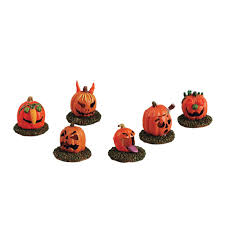 Lemax Halloween Village Ebay by Lemax Spooky Town 52117 Pumpkin People Set Of 6 Gift Spice