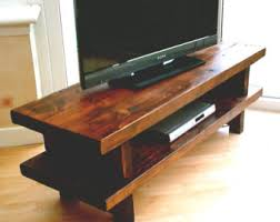 Hand Made Rustic Widescreen TV Stand 001