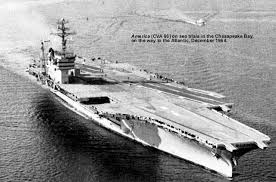 Uss America Sinking Location by Aircraft Carrier Photo Index Uss America Cva 66