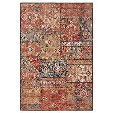 Mohawk Home Bazaar Gemma Gold 8 ft x 10 ft Area Rug The